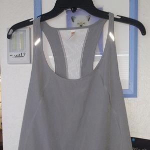 lucy athletic grey/white athletic tank sz M